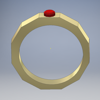 Small Ruby Ring 3D Printing 92502