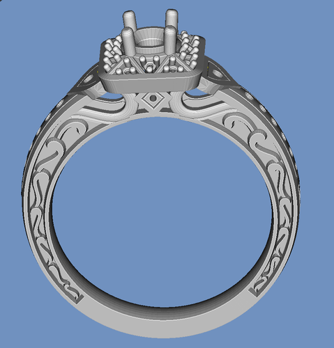 diamond ring 3D Print 92777