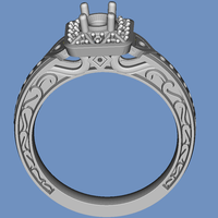 Small diamond ring 3D Printing 92777