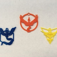 Small Pokemon Go Team Pendants 3D Printing 92801