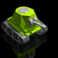 Small Cute Mini-Tank 3D Printing 92810