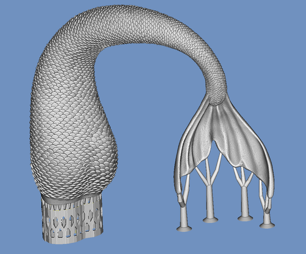 mermaid tail 3D Print 92817