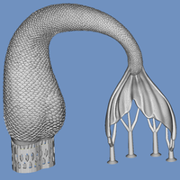 Small mermaid tail 3D Printing 92817