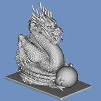 Small Dragon and ball 3D Printing 92818