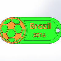 Small Olympic-Brazil-Soccer-Keychain 3D Printing 92899