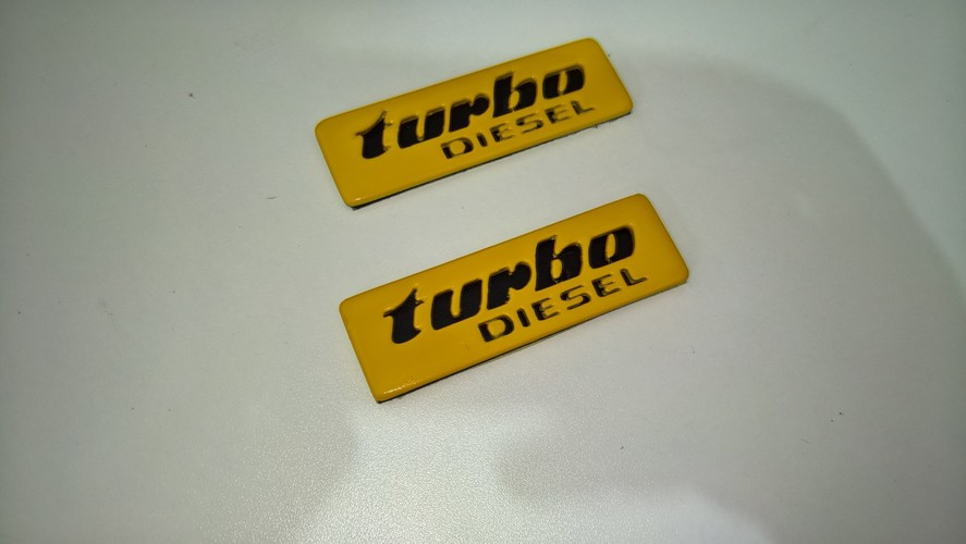 Badges for Volkswagen Golf/Jetta mk2_turbo diesel 3D Print 92919