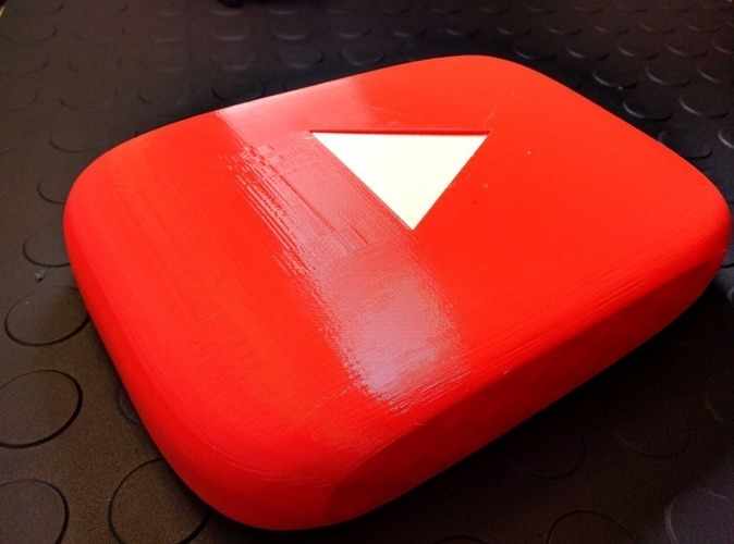 Giant YouTube Button - scaleable, prints w/o support 3D Print 92929