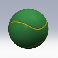 Small Tennis Ball www.antsdesigntm.com  ANTS 3D printer only US$200 3D Printing 92972