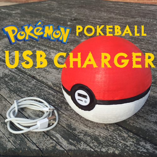 Pokeball USB Charger 3D Print 92978
