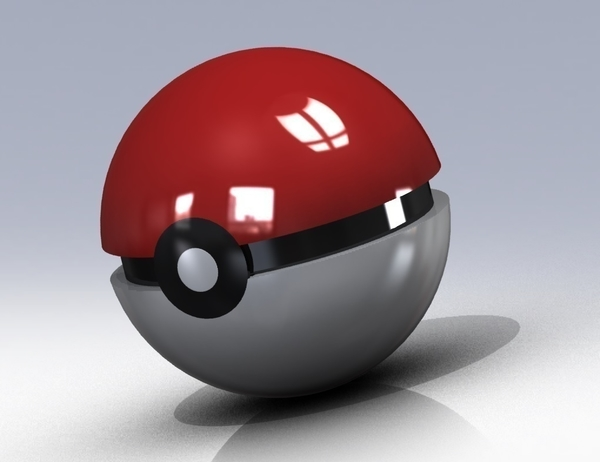 Medium Pokemon ball www.antsdesigntm.com  ANTS 3D printer only US$200 3D Printing 92984