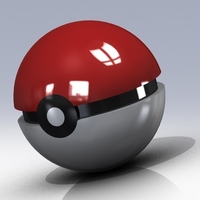 Small Pokemon ball www.antsdesigntm.com  ANTS 3D printer only US$200 3D Printing 92984