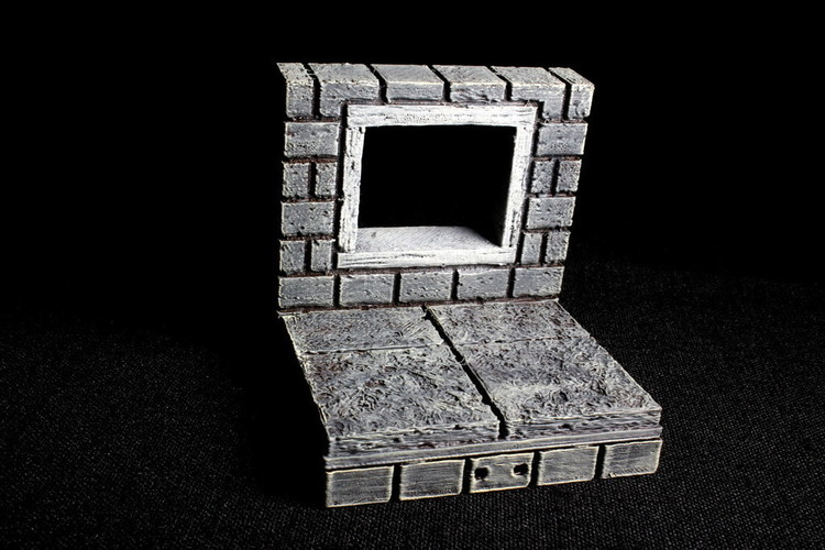 OpenForge 2.0 Cut Stone Square Window 3D Print 93059