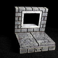 Small OpenForge 2.0 Cut Stone Square Window 3D Printing 93059