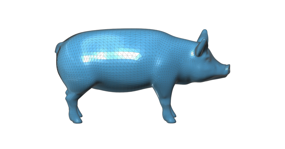 Figurine, toy, a  Pig 3D Print 93143