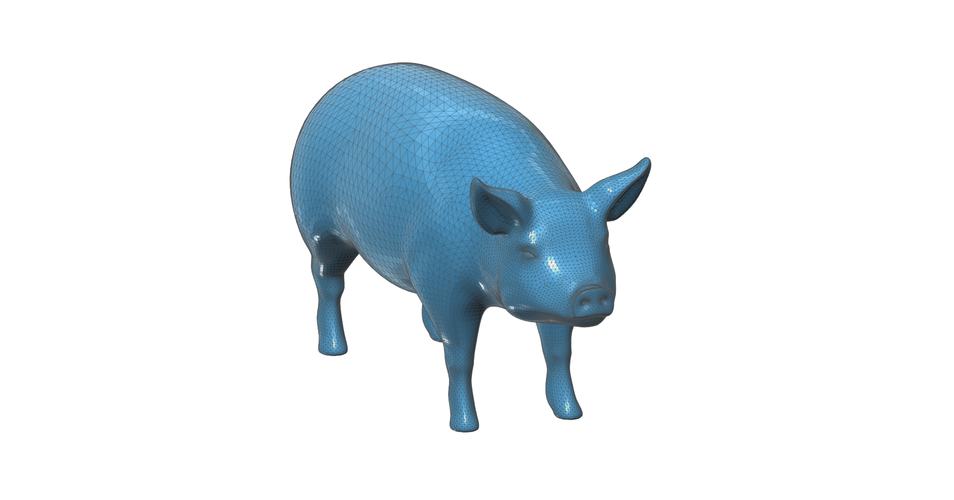 Figurine, toy, a  Pig 3D Print 93144
