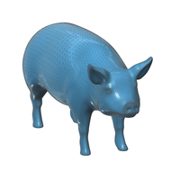 Small Figurine, toy, a  Pig 3D Printing 93144