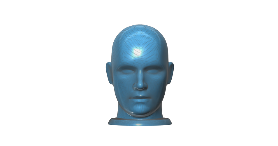 Figurine, bust, -  head on a stand 3D Print 93160