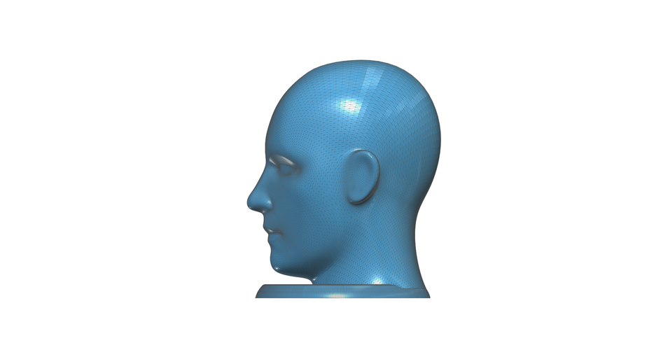 Figurine, bust, -  head on a stand 3D Print 93162