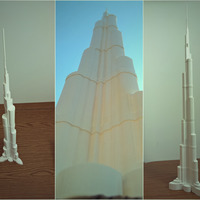 Small BURJ KHALIFA (706mm) 3D Printing 93188