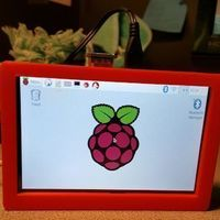 "Small Pi 3 Case for 5"" Touch screen 3D Printing 93212"