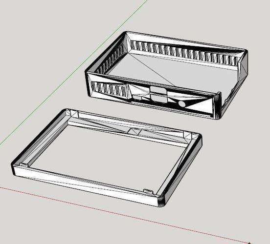 "Pi 3 Case for 5"" Touch screen 3D Print 93213"