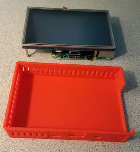"Pi 3 Case for 5"" Touch screen 3D Print 93214"