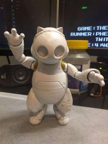RoboKitty Ball joint remix 3D Print 93281