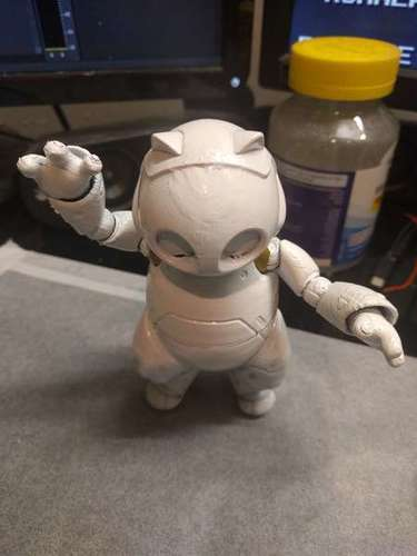 RoboKitty Ball joint remix 3D Print 93282