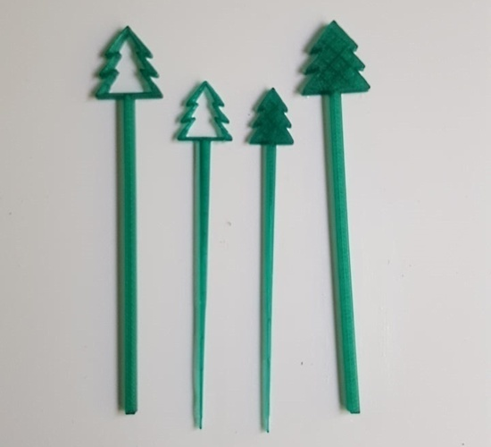 Great Outdoors Swizzle Sticks and Picks 3D Print 93317