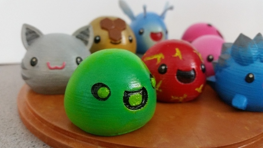 3D Printed Slimes [Slime Rancher] - Boom, Phosphor, Rad & Honey! 3D Print 93337