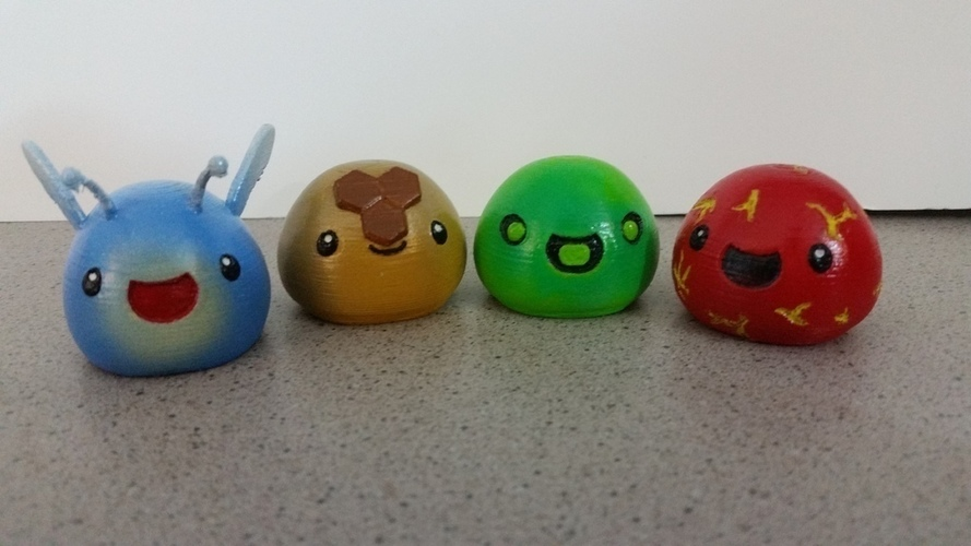 3D Printed Slimes [Slime Rancher] - Boom, Phosphor, Rad & Honey! 3D Print 93338
