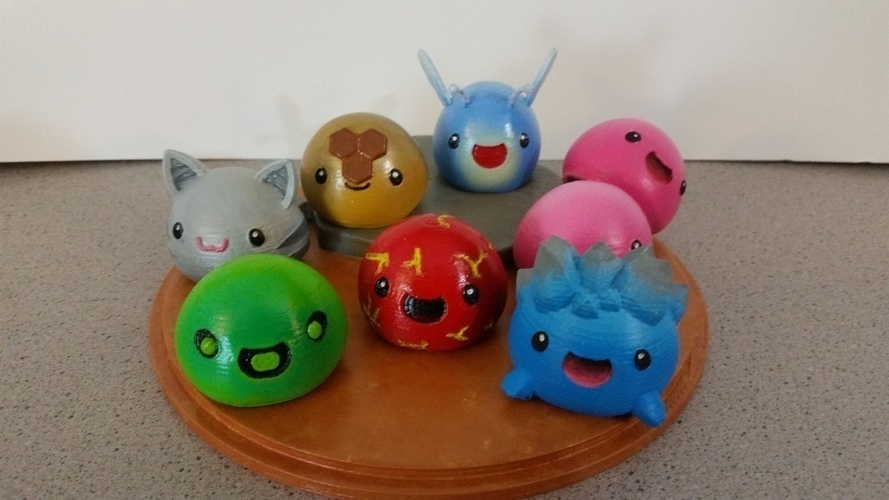 3D Printed Slimes [Slime Rancher] - Boom, Phosphor, Rad & Honey! 3D Print 93339