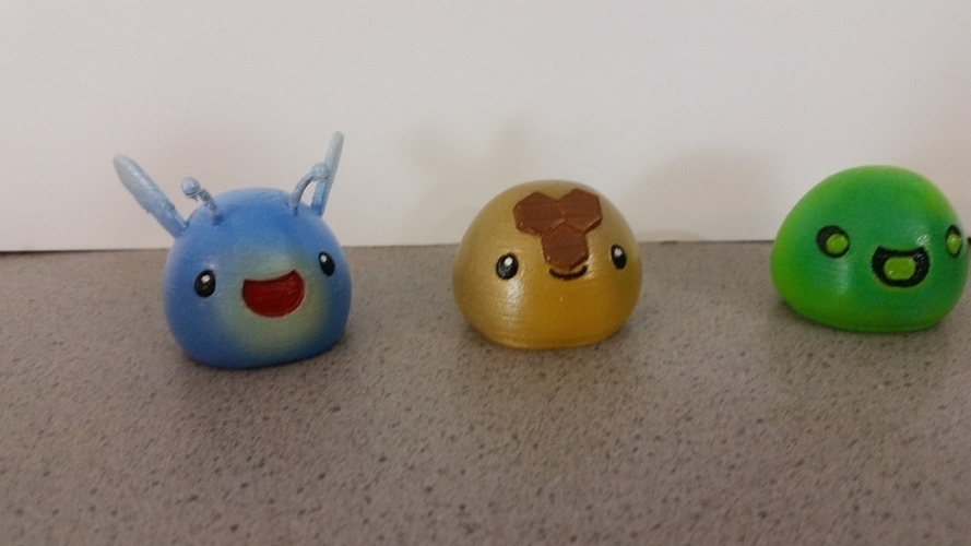 3D Printed Slimes [Slime Rancher] - Boom, Phosphor, Rad & Honey! 3D Print 93340
