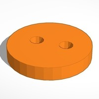 Small Round Basic Button 3D Printing 93348