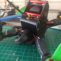 Small BeeRotor X200 Back Cover and VTX Mount 3D Printing 93411
