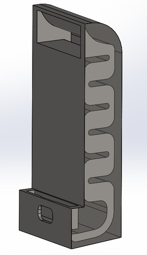 S6 Edge stand with passive acoustic box 3D Print 93431