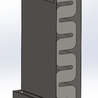 Small S6 Edge stand with passive acoustic box 3D Printing 93431