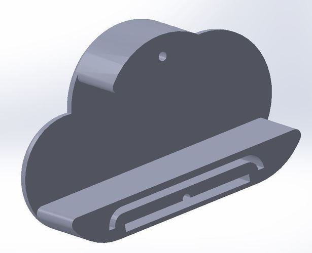 Cloud magnetic key shelf for car key fob 3D Print 93503