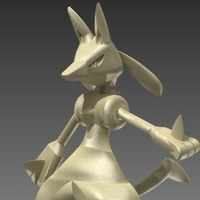 Small Lucario 3D Printing 93558