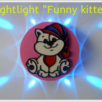 "Small Nightlight ""Funny kitten""  3D Printing 93595"