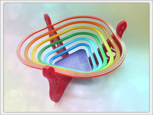 "Medium Bowl for sweets ""rainbow"" 3D Printing 93600"