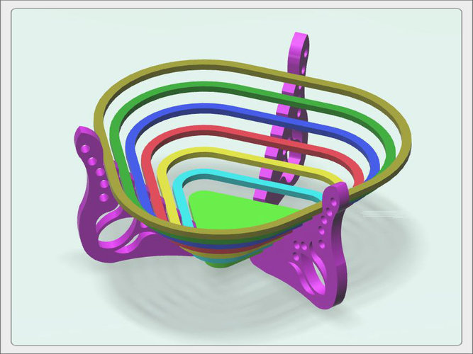 "Bowl for sweets ""rainbow"" 3D Print 93601"