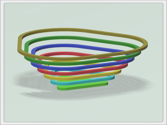 "Bowl for sweets ""rainbow"" 3D Print 93603"