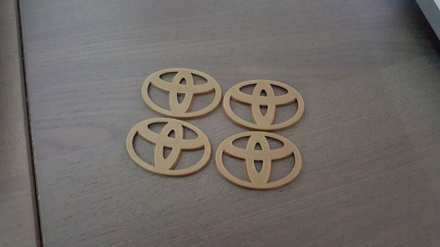 Toyota Emblem for Hubcaps - 2 styles  3D Print 93627