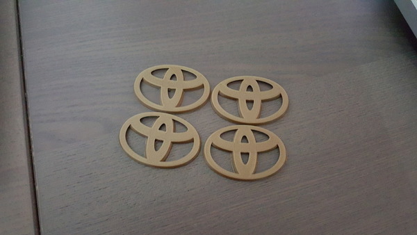 Medium Toyota Emblem for Hubcaps - 2 styles  3D Printing 93627