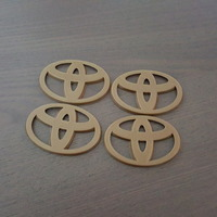 Small Toyota Emblem for Hubcaps - 2 styles  3D Printing 93627