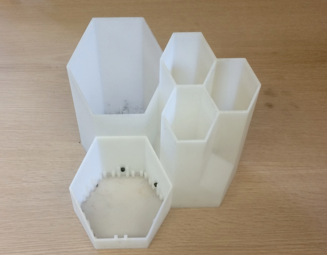 Hexagons Storage System (Set) 3D Print 93638