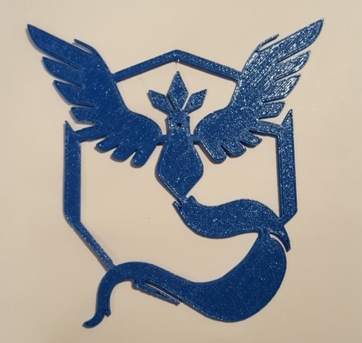 Pokemon Go Team Decals and Badges 3D Print 93751