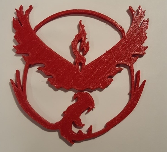 Pokemon Go Team Decals and Badges 3D Print 93752