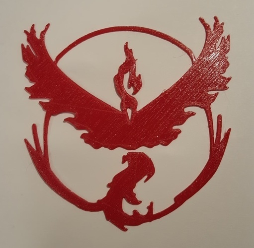 Pokemon Go Team Decals and Badges 3D Print 93753